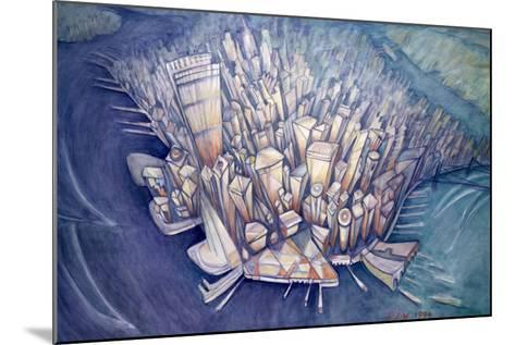 Manhattan from Above, 1994-Charlotte Johnson Wahl-Mounted Giclee Print