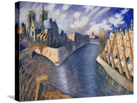 Notre Dame Cathedral, Paris, 1986-Charlotte Johnson Wahl-Stretched Canvas Print