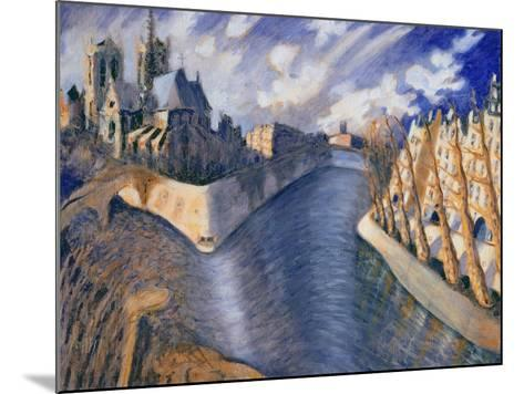 Notre Dame Cathedral, Paris, 1986-Charlotte Johnson Wahl-Mounted Giclee Print