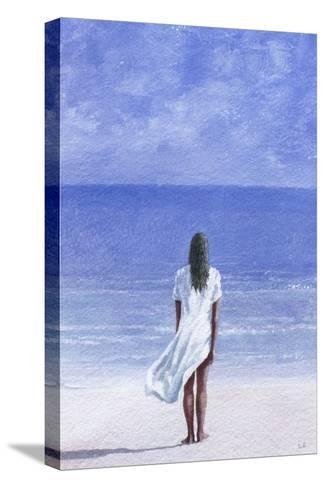 Girl on Beach, 1995-Lincoln Seligman-Stretched Canvas Print