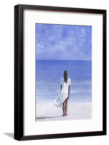 Girl on Beach, 1995-Lincoln Seligman-Framed Art Print
