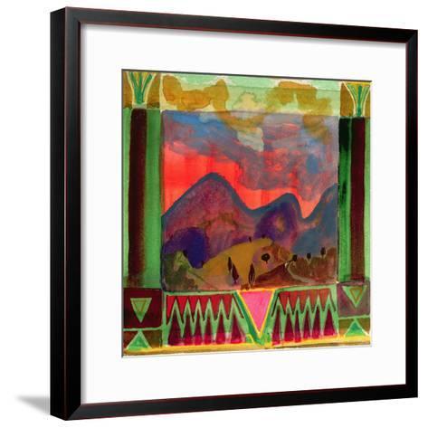 Abruzzi before Dusk-Michael Chase-Framed Art Print