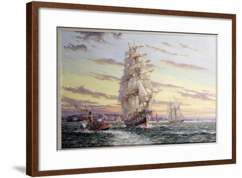 """""""The Windsor Park"""" Leaving the Thames-John Sutton-Framed Art Print"""