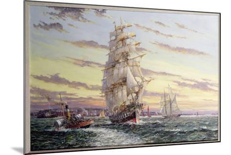 """""""The Windsor Park"""" Leaving the Thames-John Sutton-Mounted Giclee Print"""