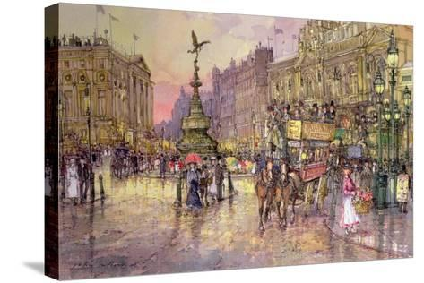 Flower Girls, Piccadilly Circus, London-John Sutton-Stretched Canvas Print
