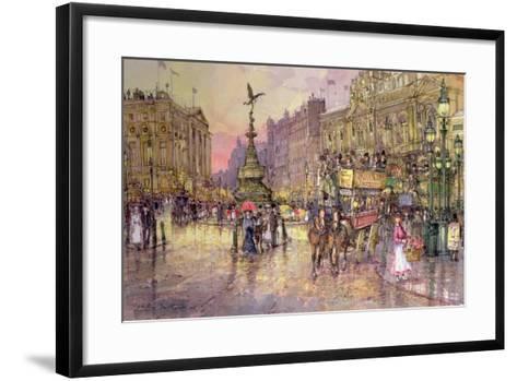 Flower Girls, Piccadilly Circus, London-John Sutton-Framed Art Print