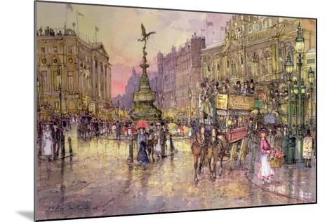 Flower Girls, Piccadilly Circus, London-John Sutton-Mounted Giclee Print