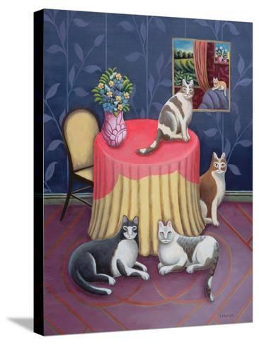 At Home-Jerzy Marek-Stretched Canvas Print