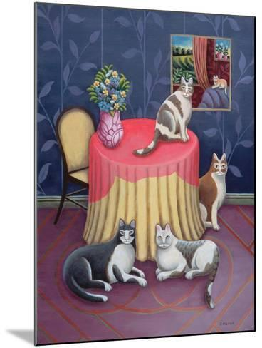 At Home-Jerzy Marek-Mounted Giclee Print