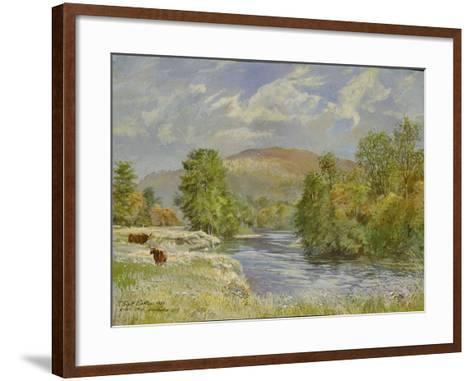 River Spey, Kinrara, 1989-Tim Scott Bolton-Framed Art Print