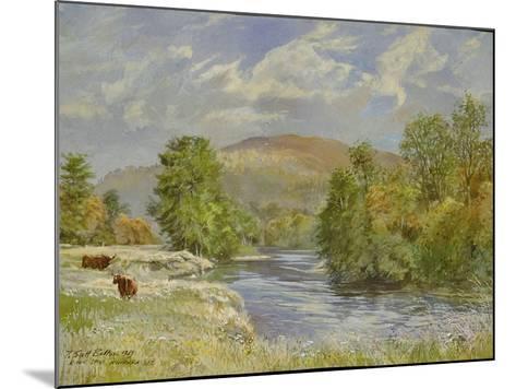 River Spey, Kinrara, 1989-Tim Scott Bolton-Mounted Giclee Print
