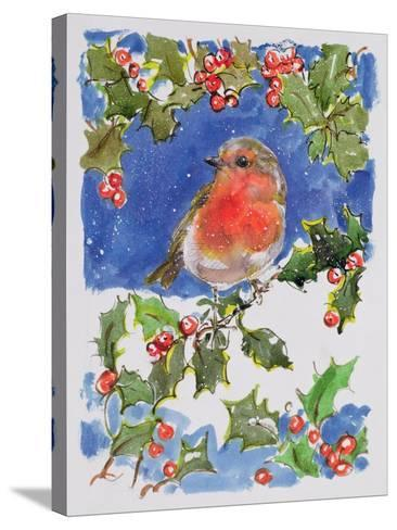 Christmas Robin, 1996-Diane Matthes-Stretched Canvas Print