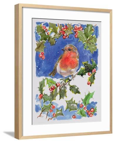 Christmas Robin, 1996-Diane Matthes-Framed Art Print