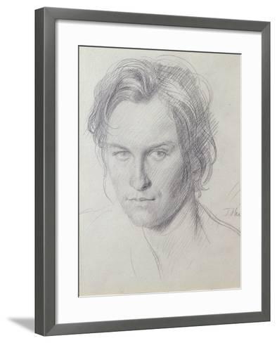 Portrait of Henry Lamb (1885-1960) C.1908-Augustus Edwin John-Framed Art Print