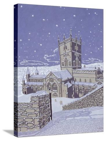 St. David's Cathedral in the Snow, 1996-Huw S. Parsons-Stretched Canvas Print