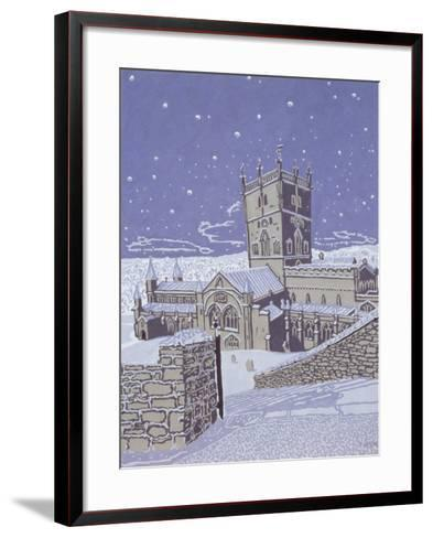 St. David's Cathedral in the Snow, 1996-Huw S. Parsons-Framed Art Print
