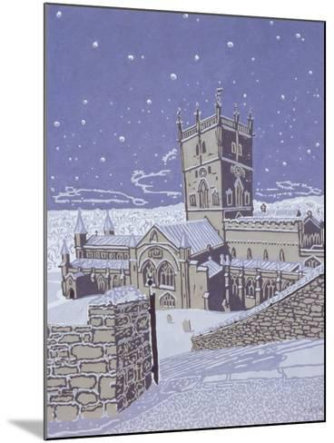 St. David's Cathedral in the Snow, 1996-Huw S. Parsons-Mounted Giclee Print