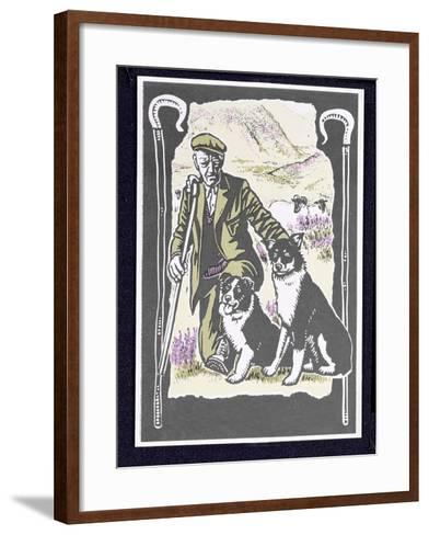Shepherd Laddie O' the Hills, 1997-Karen Cater-Framed Art Print
