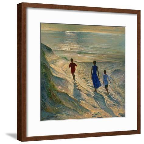 Beach Walk, 1994-Timothy Easton-Framed Art Print