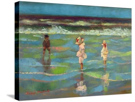 Paddling-Robert Tyndall-Stretched Canvas Print