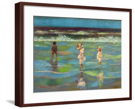 Paddling-Robert Tyndall-Framed Art Print