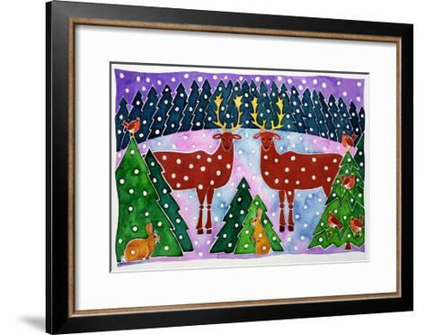 Reindeer and Rabbits-Cathy Baxter-Framed Art Print