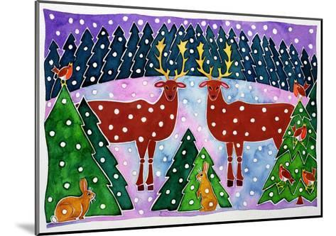Reindeer and Rabbits-Cathy Baxter-Mounted Giclee Print