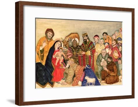 Nativity Scene-Gillian Lawson-Framed Art Print