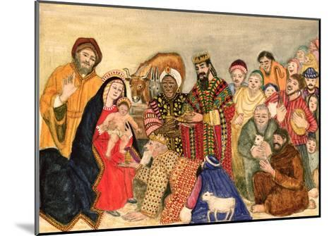 Nativity Scene-Gillian Lawson-Mounted Giclee Print