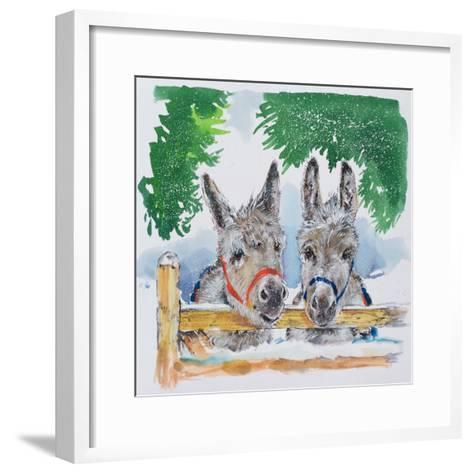 Friends in the Field, 1996-Diane Matthes-Framed Art Print