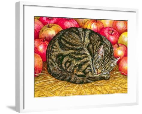 Left-Hand Apple-Cat, 1995-Ditz-Framed Art Print