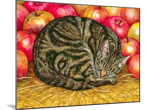 Left-Hand Apple-Cat, 1995-Ditz-Mounted Giclee Print