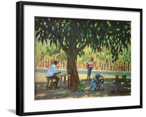 Waiting for the Bus, 1997-Tilly Willis-Framed Art Print