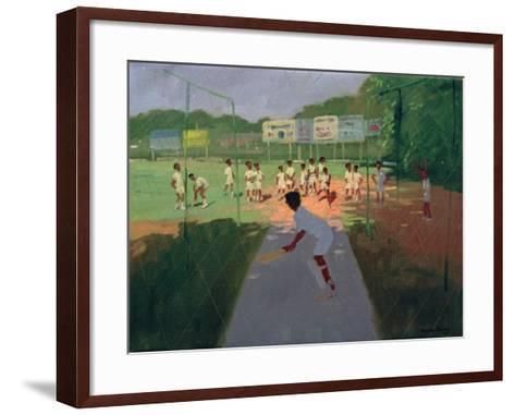 Cricket, Sri Lanka-Andrew Macara-Framed Art Print