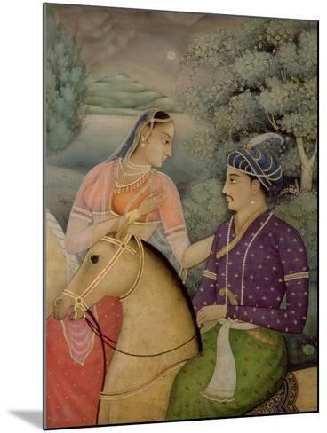 A Couple on Horseback Beside a Moonlit Lake-Mark Briscoe-Mounted Giclee Print