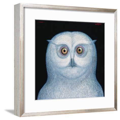Great White Owl, 1996-Tamas Galambos-Framed Art Print