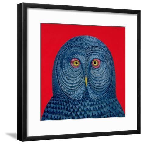 Blue Owl, 1995-Tamas Galambos-Framed Art Print