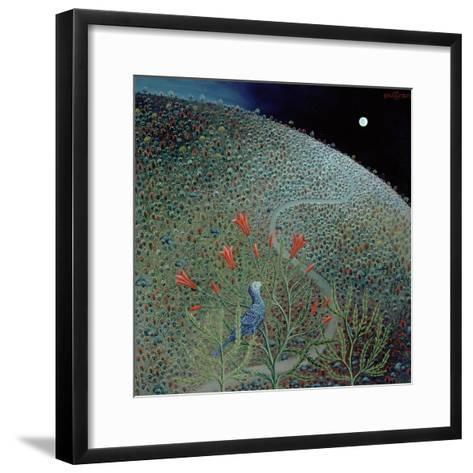 Blue Bird of Happiness, 1995-Tamas Galambos-Framed Art Print