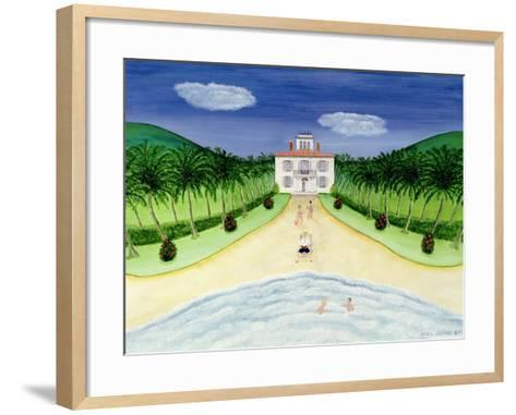 Private Beach-Mark Baring-Framed Art Print