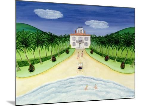 Private Beach-Mark Baring-Mounted Giclee Print