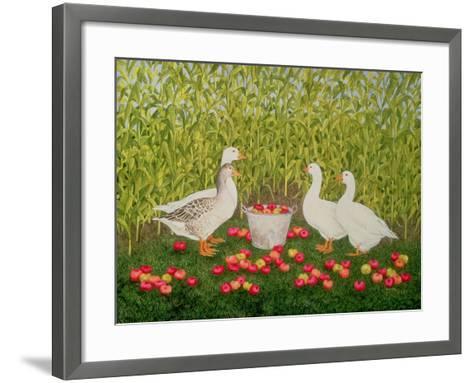Sweetcorn-Geese-Ditz-Framed Art Print