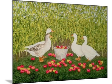 Sweetcorn-Geese-Ditz-Mounted Giclee Print