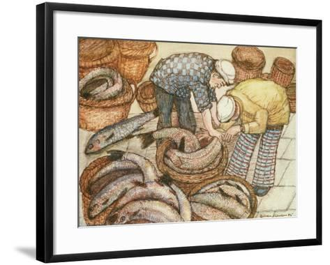 Gathering in the Fish-Gillian Lawson-Framed Art Print