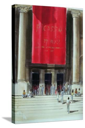 Entrance to the Metropolitan Museum, New York City, 1990-Lincoln Seligman-Stretched Canvas Print