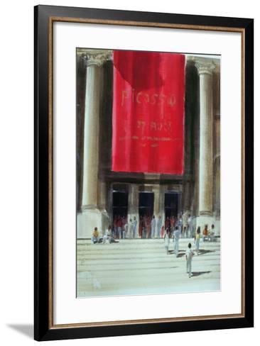 Entrance to the Metropolitan Museum, New York City, 1990-Lincoln Seligman-Framed Art Print