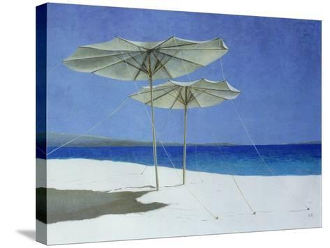 Umbrellas, Greece, 1995-Lincoln Seligman-Stretched Canvas Print