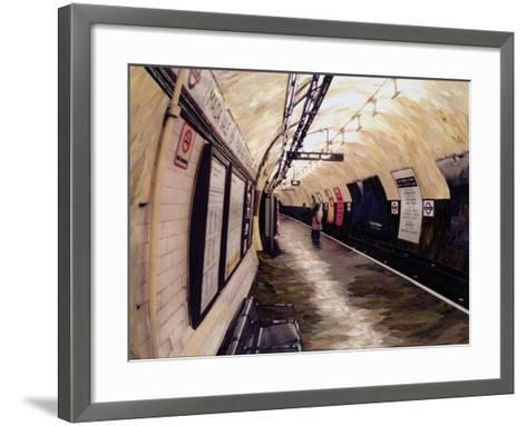 Waiting for a Train Going South, 1998-Ellen Golla-Framed Art Print