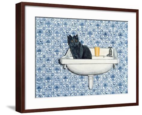 My Bathroom Cat-Ditz-Framed Art Print
