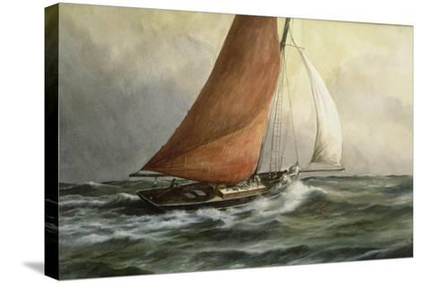 Bawley in the Estuary-Vic Trevett-Stretched Canvas Print