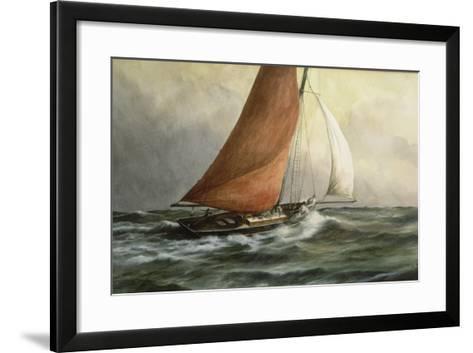 Bawley in the Estuary-Vic Trevett-Framed Art Print